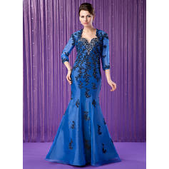 Trumpet/Mermaid Sweetheart Floor-Length Mother of the Bride Dresses With Embroidered Beading