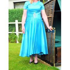 Forme Princesse Col rond Taffeta Superbe Robes mère de la mariée (008212784)