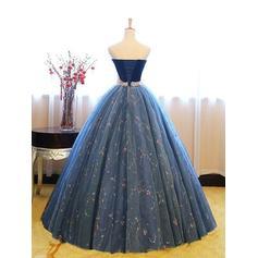 Tul Princesa Corte de baile Hasta el suelo Vestidos de baile de promoción (018218647)