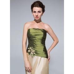Forme Fourreau Taffeta Sans manches Sans bretelle Longueur ras du sol Fermeture éclair Robes mère de la mariée (008213152)