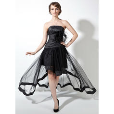 Taffeta Tulle 2019 New A-Line/Princess Asymmetrical Prom Dresses (018021078)