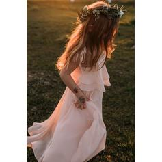 blush colored flower girl dresses