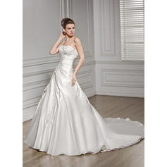 simple white wedding dresses with sleeves