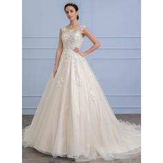 Tule Renda De baile com Moderno Geral Mais Vestidos de noiva (002107819)