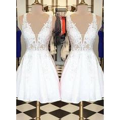 Beautiful Homecoming Dresses A-Line/Princess Short/Mini V-neck Sleeveless
