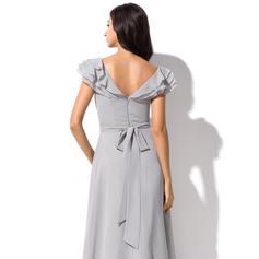 vestido de dama de honor malva