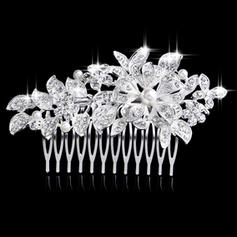 "Combs & Barrettes Wedding/Special Occasion/Party Rhinestone/Alloy/Imitation Pearls 4.13""(Approx.10.5cm)/14.57 ""(Approx.37cm) 2.36""(Approx.6cm) Headpieces"