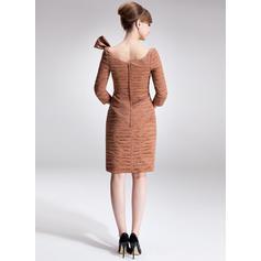 Frynse Profilering paljetter Sløyfe (r) Off-the-Shoulder Delikat Blonder Kjoler til Brudens Mor (008006003)