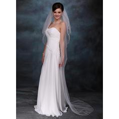 Chapel Bridal Veils Tulle Three-tier Drop Veil With Pencil Edge Wedding Veils