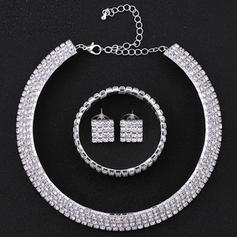 Jewelry Sets Alloy/Rhinestones Pierced Ladies' Beautiful Wedding & Party Jewelry