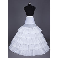 Floor-length Nylon Ball Gown Slip/Full Gown Slip 5 Tiers Wedding/Special Occasion Petticoats