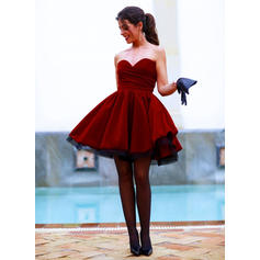 Ball-Gown Sweetheart Short/Mini Homecoming Dresses With Ruffle (022212403)