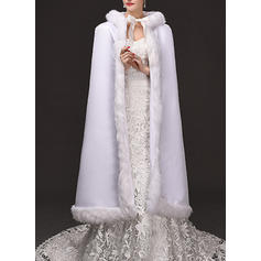 Wrap Wedding Faux Fur Sleeveless With Sashes / Ribbons Wraps