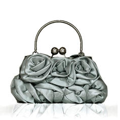 Wristlets Wedding/Ceremony & Party Satin Kiss lock closure Attractive Clutches & Evening Bags