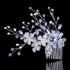 Combs & Barrettes Wedding/Special Occasion/Party Crystal/Rhinestone/Alloy/Imitation Pearls Special (Sold in single piece) Headpieces