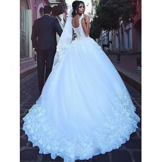 vestidos de novia de color crema