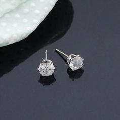 Earrings Alloy/Zircon Pierced Ladies' Shining Wedding & Party Jewelry