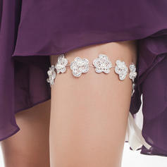 "Garters Women/Bridal Wedding/Special Occasion Ribbons With ""A"" Level Rhinestone/Imitation Pearls Garter"