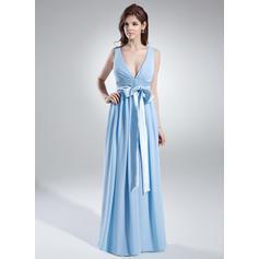 Vestidos de dama de honor azules y púrpuras