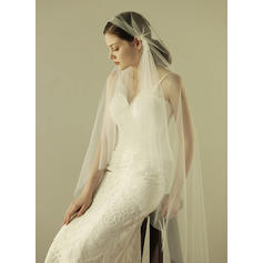 Waltz Bridal Veils Tulle With Cut Edge 62.99 in (160cm) White Wedding Veils