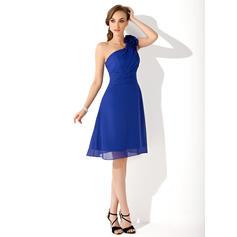 chiffon bridesmaid dresses for women in marine blue