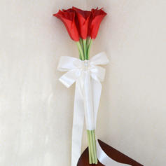 "Bridal Bouquets/Bridesmaid Bouquets Hand-tied Wedding Artificial Silk 8.07"" (Approx.20.5cm) Wedding Flowers"
