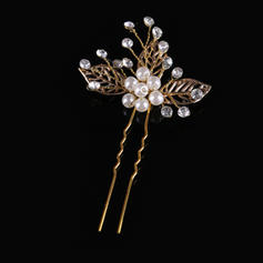 "Hairpins Wedding/Party Crystal/Alloy/Imitation Pearls 3.94""(Approx.10cm) 2.56""(Approx.6.5cm) Headpieces"