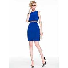Moderno Vestido tubo Escote redondo Gasa Baile de promoción (016077854)