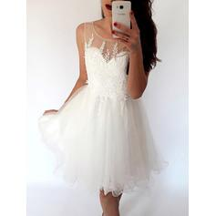 Glamour Tulle Forme Princesse Col rond Robes de cocktail (016217698)