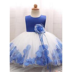 Tulle Col rond Fleur(s) Robes de baptême bébé fille avec Sans manches (2001218014)