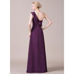 vestido de dama de honor con abertura