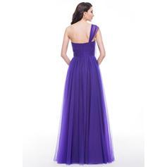 Tul Tirantes Un hombro Corte A/Princesa Vestidos de baile de promoción (018059420)