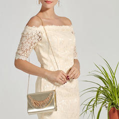 Clutches Wedding/Ceremony & Party PU Snap Closure Elegant Clutches & Evening Bags