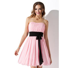 Short/Mini Empire Sleeveless Chiffon Bridesmaid Dresses (007051854)