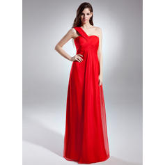 Empire Chiffon One-Shoulder Sleeveless Evening Dresses (017015600)