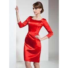 Magnifique Forme Fourreau Standard Grande taille Charmeuse Robes de cocktail