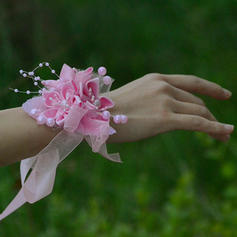 "Wrist Corsage Wedding/Party Satin/Cotton/Ribbon 1.18""(Approx.3cm) 3.54""(Approx.9cm) Wedding Flowers"