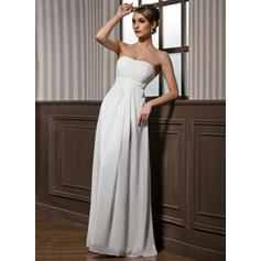 Empire Sweetheart Floor-Length Bridesmaid Dresses With Ruffle Beading (007001846)