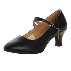 Frauen Charakter Schuhe Absatzschuhe Echtleder mit Knöchelriemen Tanzschuhe