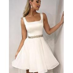 Fashion Homecoming Dresses A-Line/Princess Short/Mini Square Neckline Sleeveless