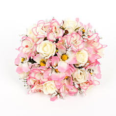 "Bridal Bouquets Round Wedding/Party Artificial Silk 9.84""(Approx.25cm) Wedding Flowers"
