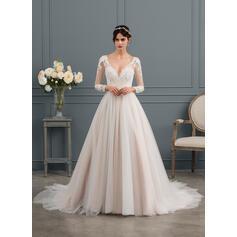 mais tamanho simples vestidos de noiva do país
