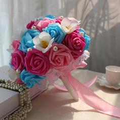 """Bridal Bouquets Free-Form Wedding Satin 9.49""""(Approx.24cm) Wedding Flowers"""