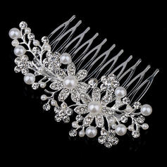 """Combs & Barrettes Wedding/Party/Carnival Rhinestone/Alloy/Imitation Pearls 4.72""""(Approx.12cm) 2.36""""(Approx.6cm) Headpieces"""