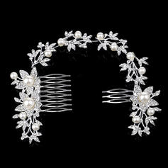 "Combs & Barrettes Wedding/Special Occasion Alloy/Imitation Pearls 11.02""(Approx.28cm) 2.36""(Approx.6cm) Headpieces"