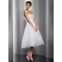 robes de mariée à moitié manches