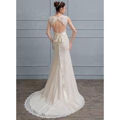 robes de mariée en tulle à manches longues