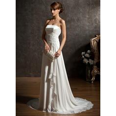 Coração Geral Mais - Vestidos princesa/ Formato A Tecido de seda Vestidos de noiva