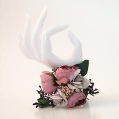 "Wrist Corsage Hand-tied Wedding Satin/Emulational Berries 1.97""(Approx.5cm) Wedding Flowers"