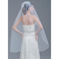 Waltz Bridal Veils Tulle One-tier Classic With Scalloped Edge Wedding Veils